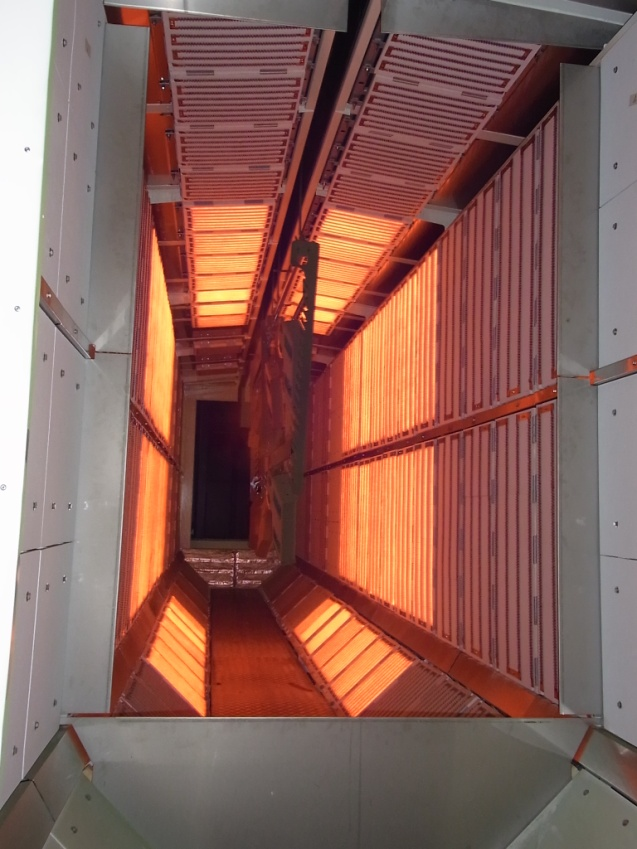 infrared tunnel - paint curing sopara