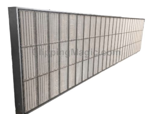 infrared panel for heating nonwoven